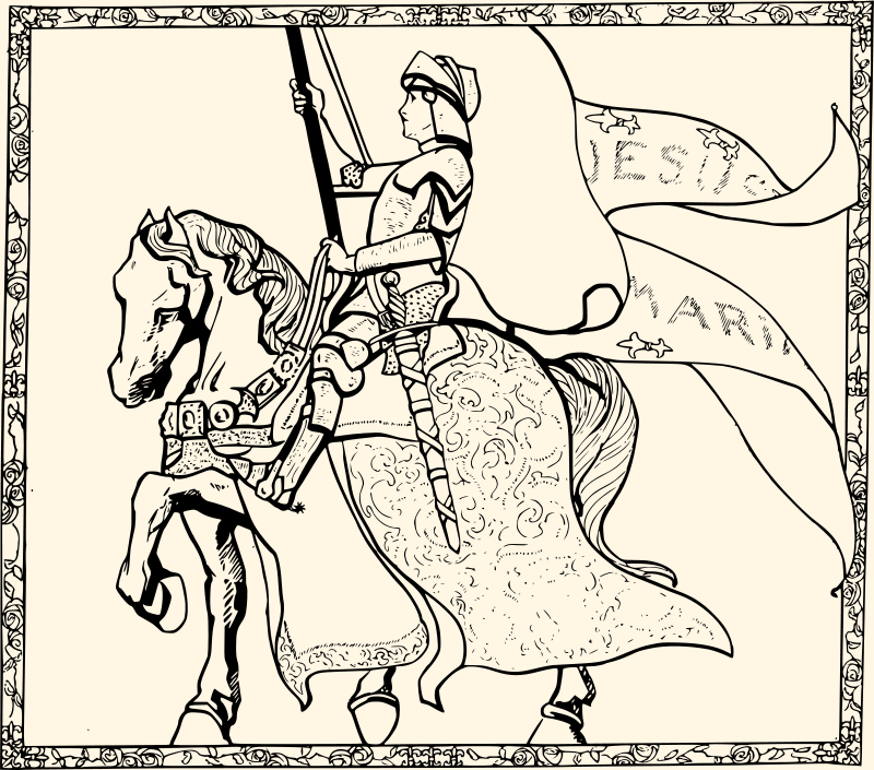 Free Clipart: Joan of Arc.