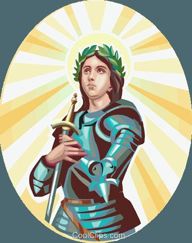 Saint Joan of Arc Royalty Free Vector Clip Art illustration.