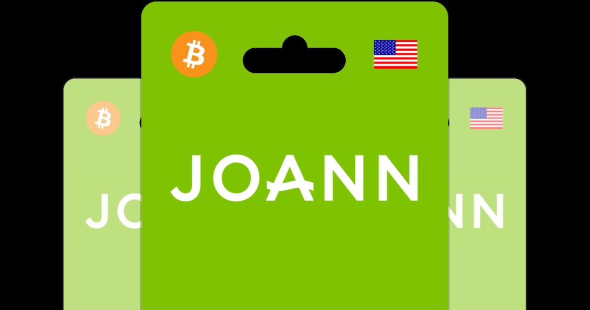 Buy JoAnn Fabrics with Bitcoin.