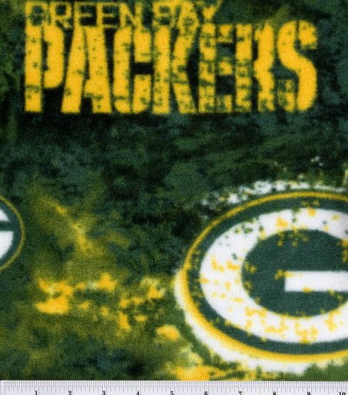 Green Bay Packers Fleece Fabric.