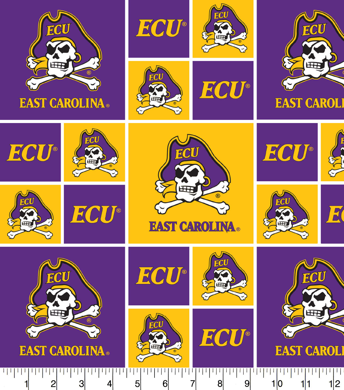 East Carolina University Pirates Cotton Fabric.