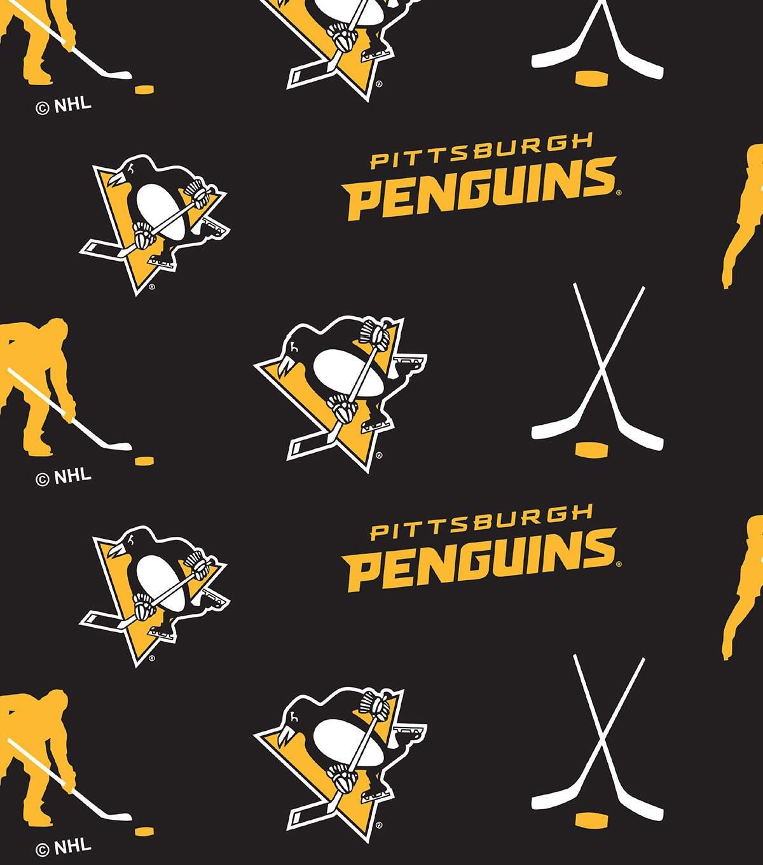 Pittsburgh Penguins Fleece Fabric.