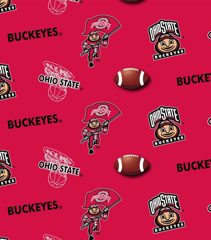 Ohio State University Buckeyes Cotton Fabric.