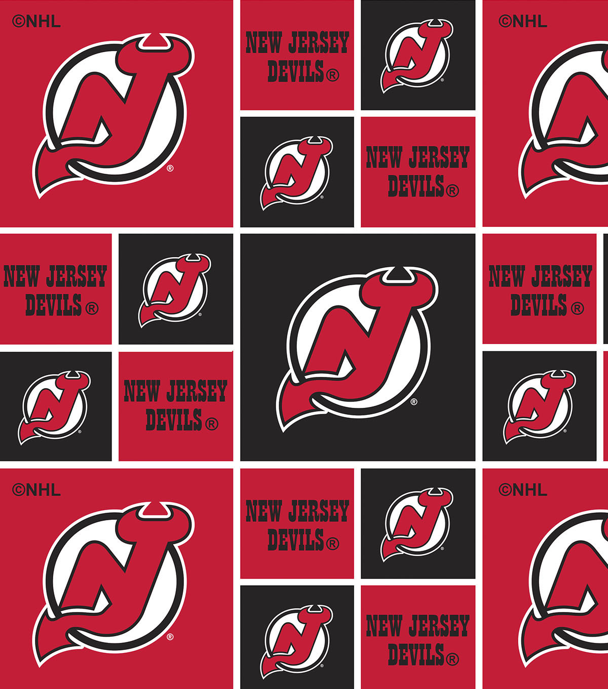 New Jersey Devils Cotton Fabric.