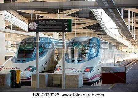 Stock Images of Valencia Joaquin Sorolla railway station. High.