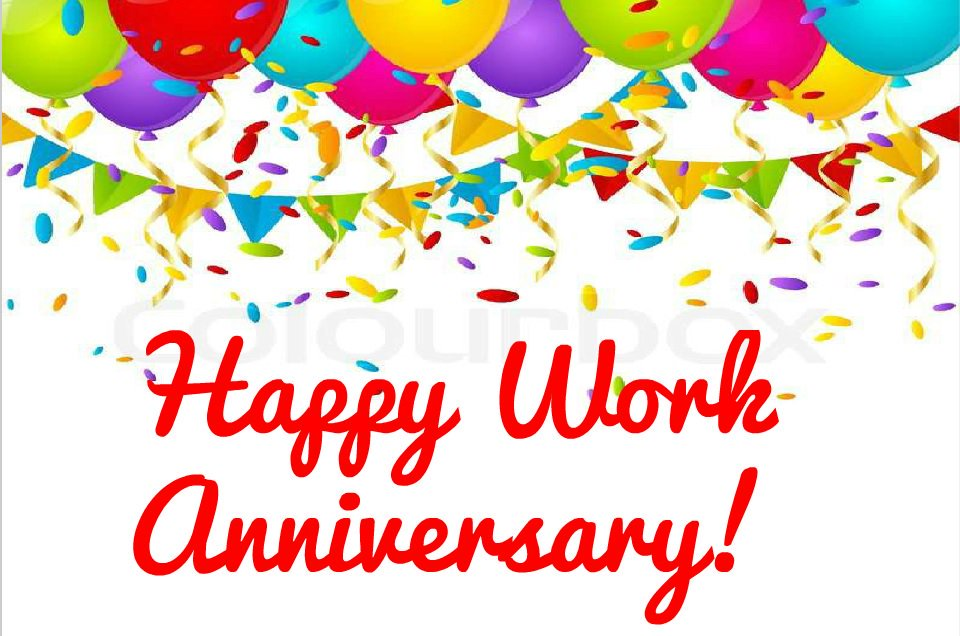 Happy Work Anniversary Clipart.