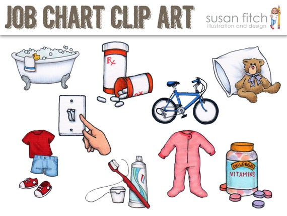 COMMERCIAL LICENSE for Job Chart Clip Art.