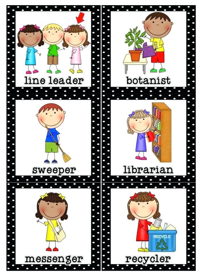 Preschool job chart clipart 5 » Clipart Station.