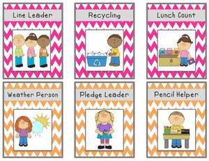 Preschool Classroom Job Chart Clipart.