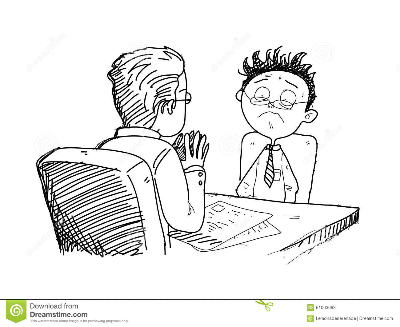 Job Interview Clipart Black And White.