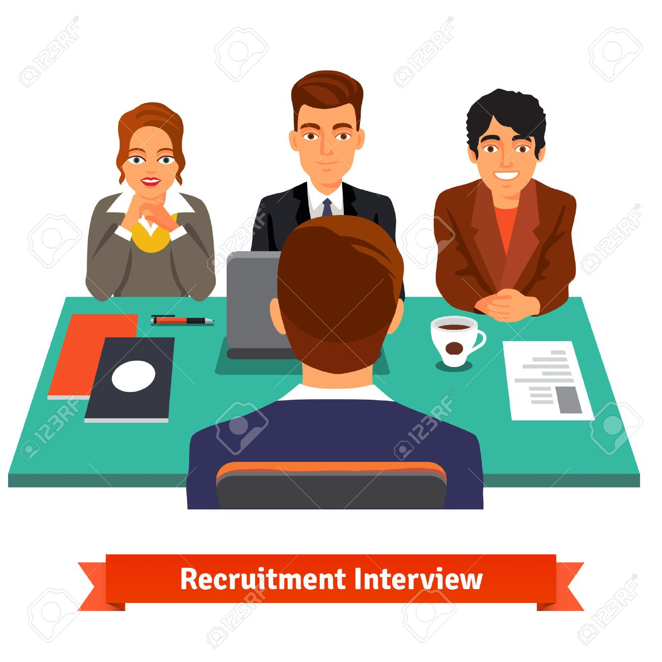 1813 Interview free clipart.