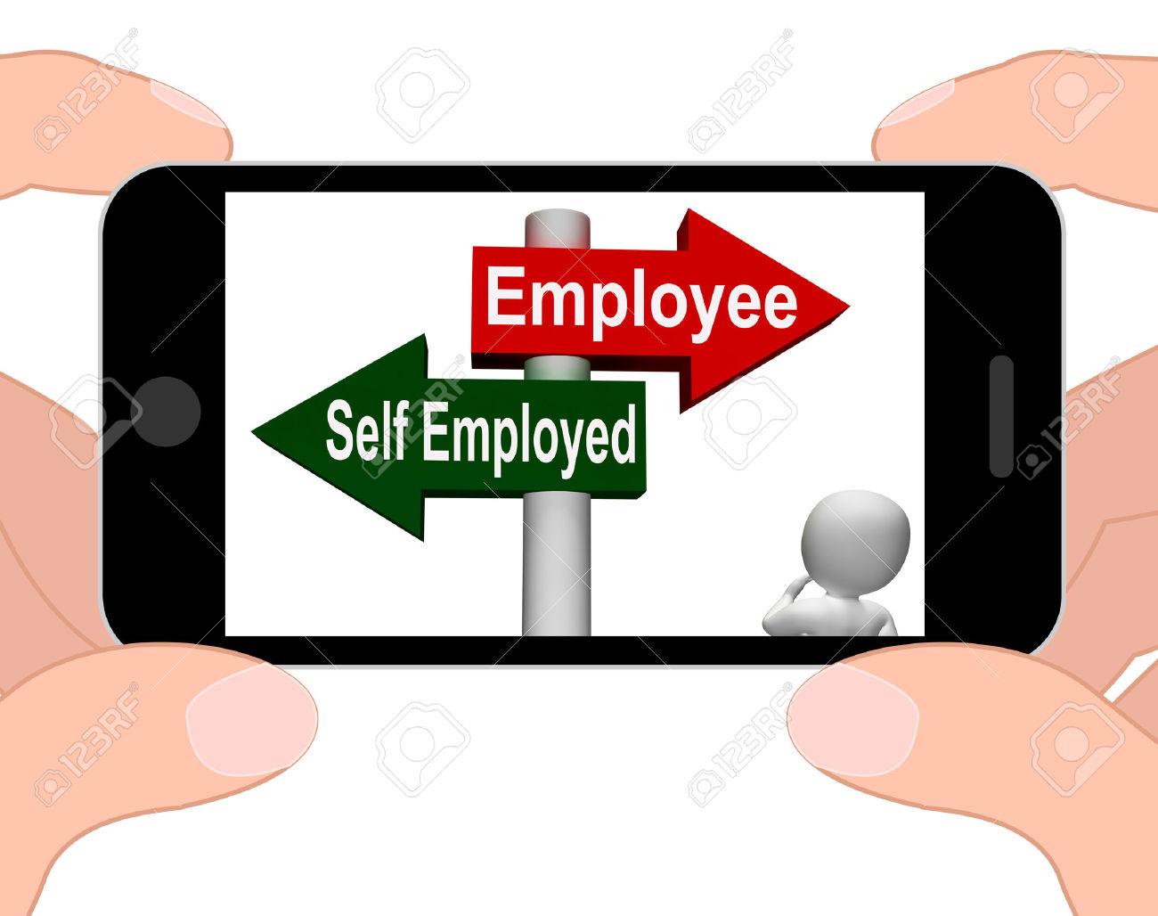 Employee Self Employed Signpost Displaying Choose Career Job.
