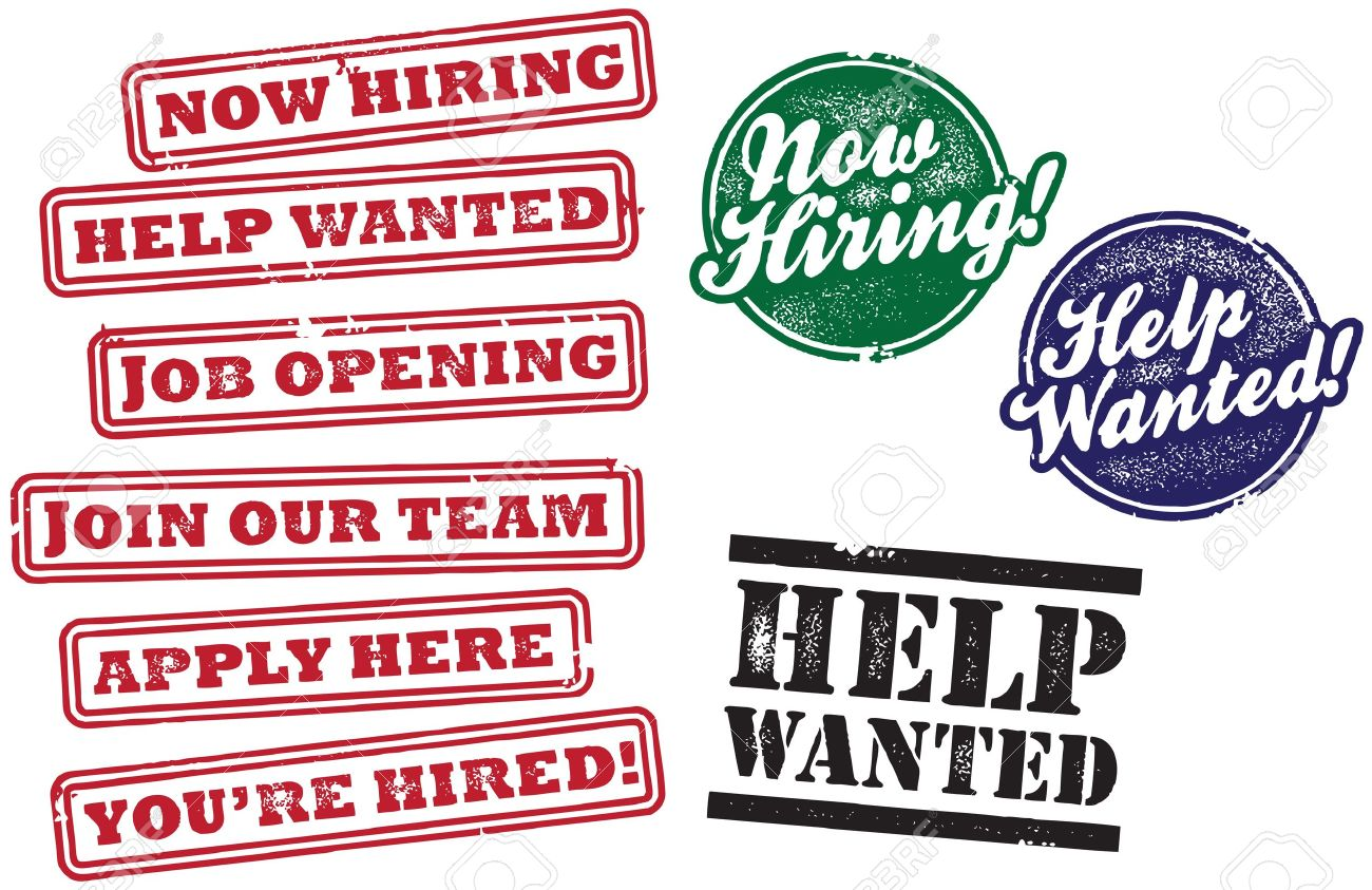 Help Wanted And Now Hiring