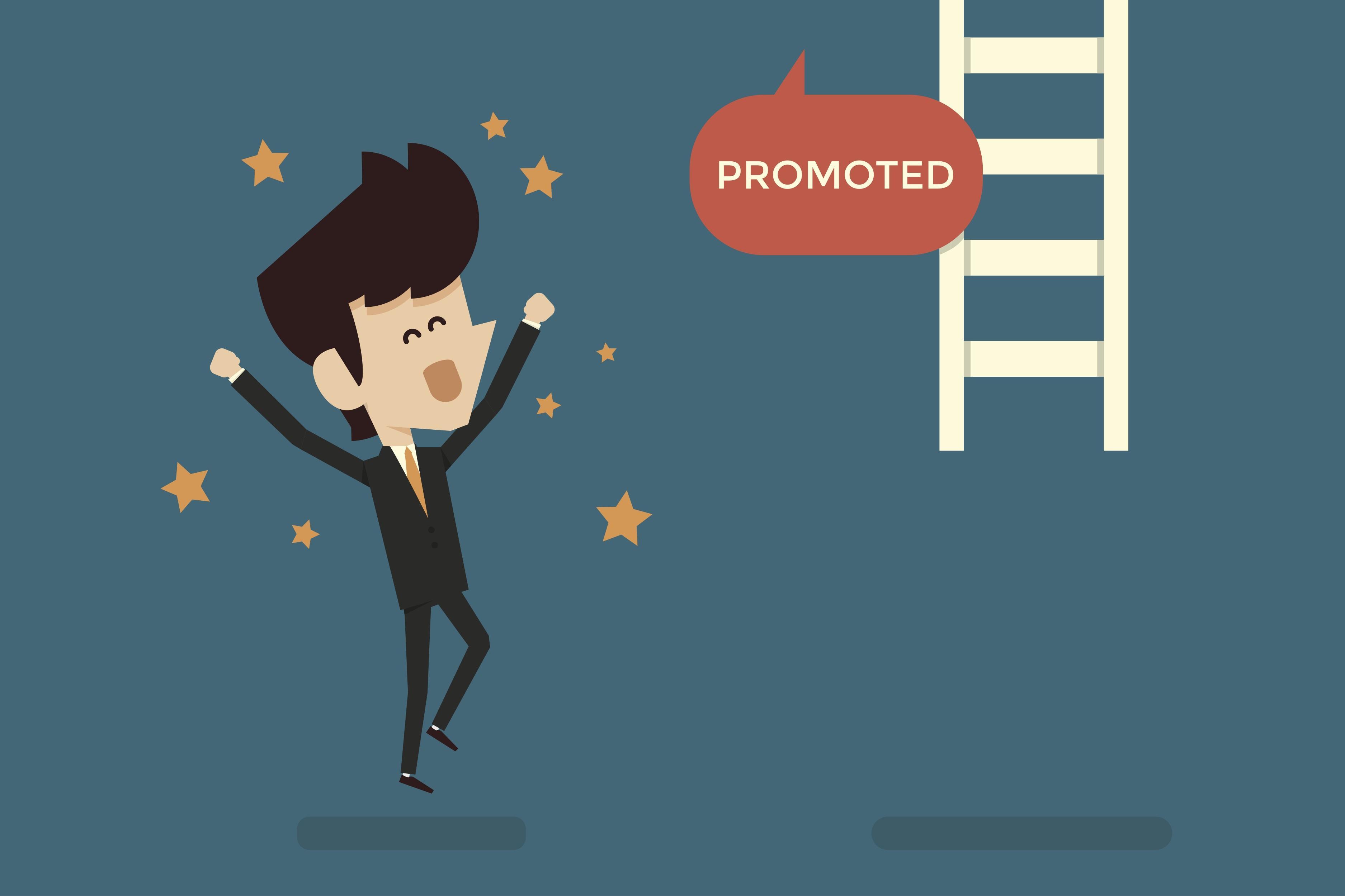 Job Promotion Postpromotions Clip Art.