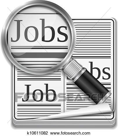 Job search concept Clipart.