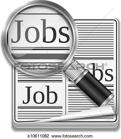 Clipart of Job search concept k10611082.