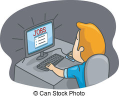 Job Searching Clipart.