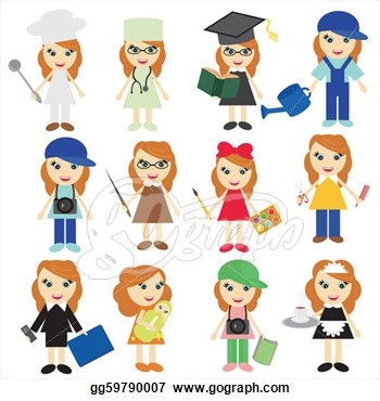 Clipart jobs worksheets.