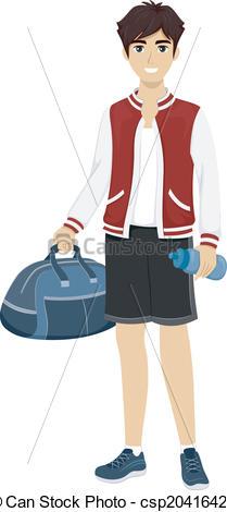 Vector Illustration of Sporty Teen.