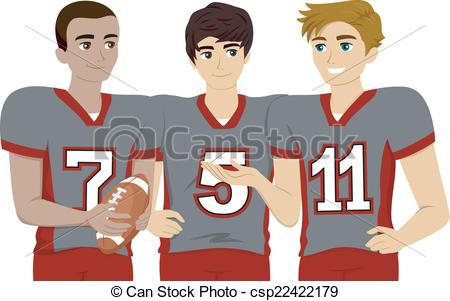 EPS Vectors of Male Teen Group.