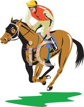 Jockey on a Racehorse.