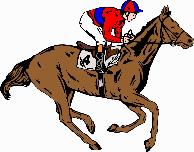 Horse jockey clipart.