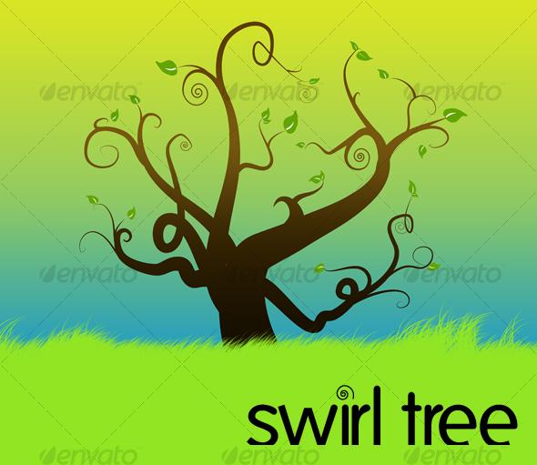 swirl tree by jocosity.