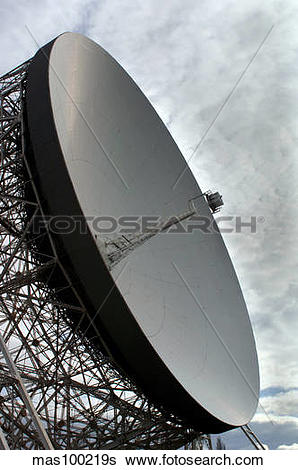 Stock Images of The Lovell Telescope at Jodrell Bank Observatory.
