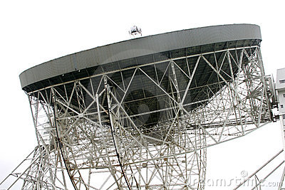 A Close Up Of The Lovell Telescope At Jodrell Bank Stock Photo.