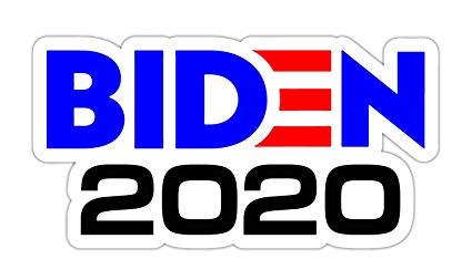 Joe Biden 2020 President Political Logo Printed Vinyl Sticker Decal.