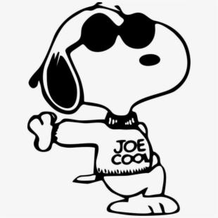 Snoopy Joe Cool , Transparent Cartoon, Free Cliparts.