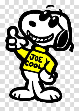 Snoopy as Joe Cool transparent background PNG clipart.