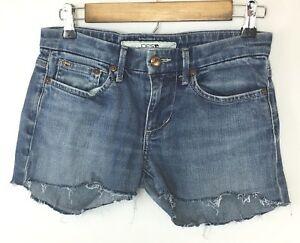 Details about Joe\'s Jeans Women\'s Jean Cut Mini Shorts! Distressed, Sweet  Logo! Meas as Sz 29.