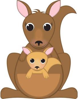 Kangaroo Clip Art and Joey Kangaroo Clipart.