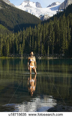 Stock Image of Joffre Lake near Pemberton, British Columbia.