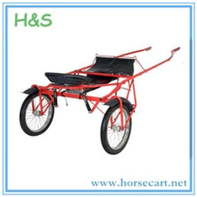 Racing horse cart.