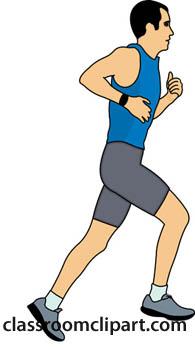 Man Jogging Clipart.