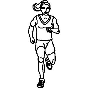 Run in Place Clipart.
