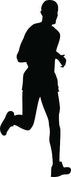 Jogging man silhouette