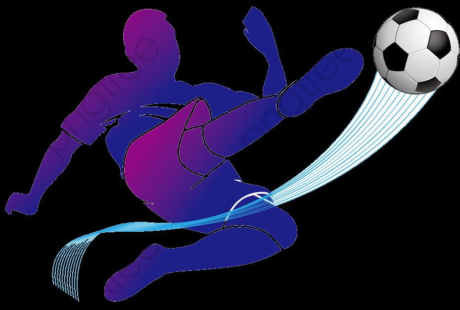 O Jogador De Futebol Azul, Os Atletas, Futebol, Cartoon PNG Imagem.