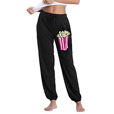 Amazon.com: Popcorn Clip Art Soft/Cozy Sweatpants, Women\'s.