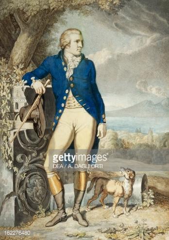 Portrait Of Goethe In Countryside By Johann Heinrich Wilhelm.