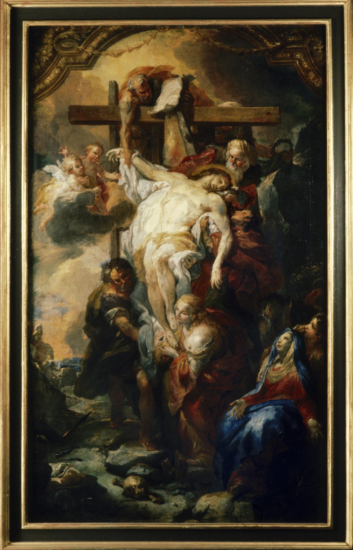 14 Johann Michael Rottmayr Snímání z kříže Klášter Kremsmünster.
