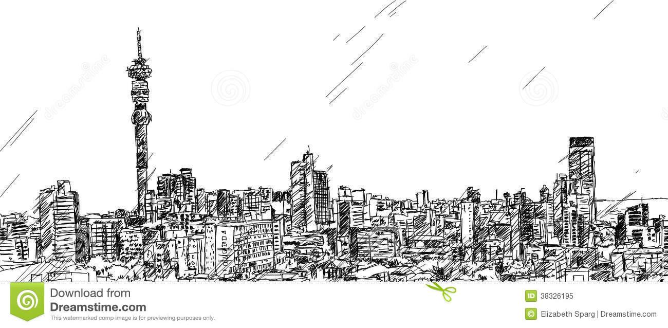 Johannesburg Skyline Royalty Free Stock Photo.