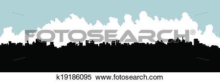 Clipart of Johannesburg Skyline k19186095.