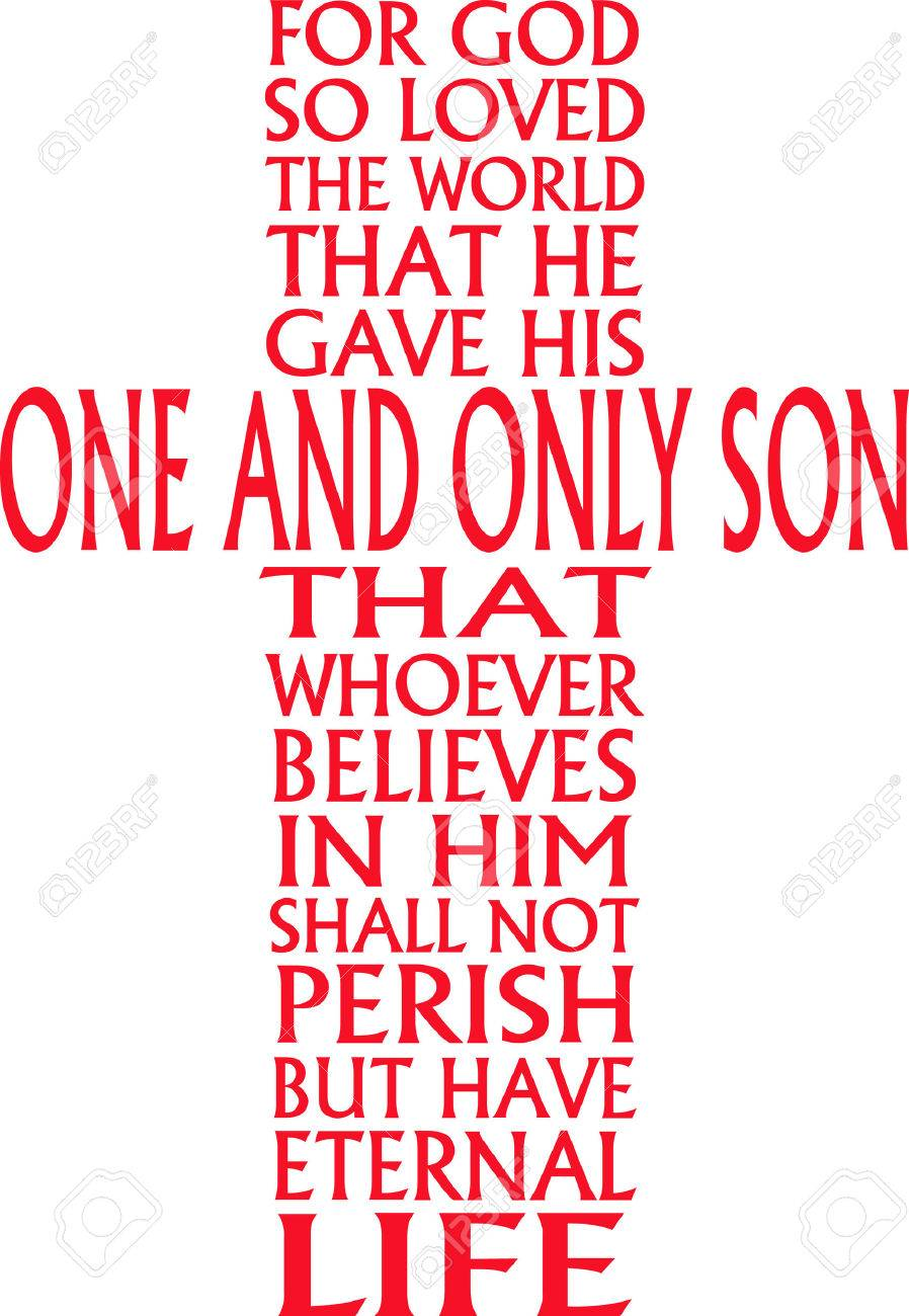 This is a beautiful combination of John 3:16 Bible verse in the...