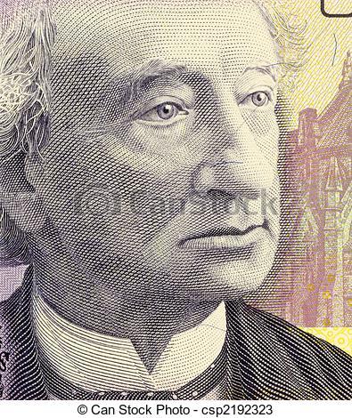 Stock Photos of John A. Macdonald.