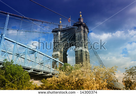 John A Roebling Suspension Bridge Stock Photos, Royalty.