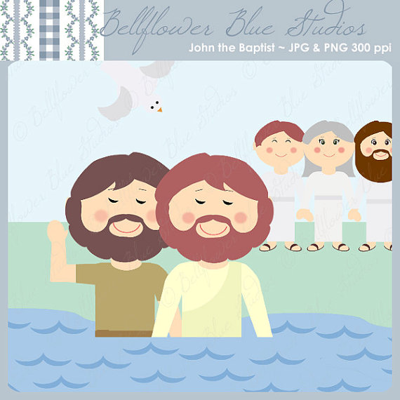 John the Baptist Digital Clipart.