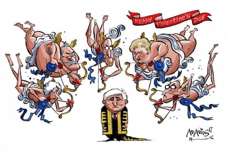 "Political Cartoon on Twitter: ""Tough love for John Bercow on St."